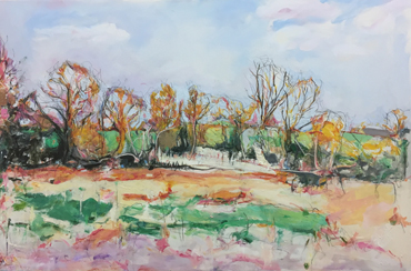 Whitchurch, Pond behind the House by Deborah Ward