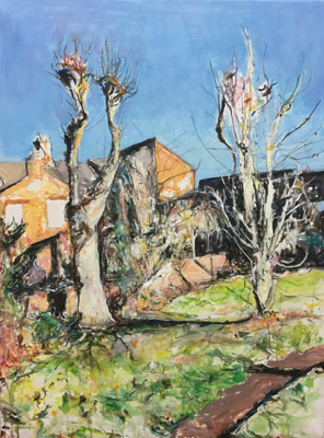Pollarded Trees, Knighton, 2 by Deborah Ward
