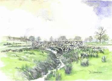 Bradgate Stone Bridge by Di Lorriman