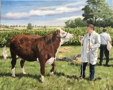 Prize Heifer by Frank Bingley