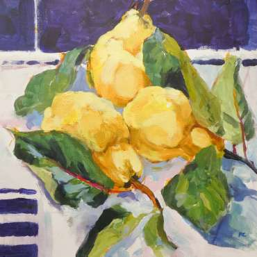 Golden Quinces by Hazel Crabtree