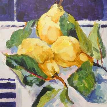 Golden Quinces by Hazel Crabtree