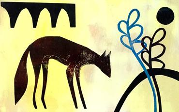 Fox with Ferns by Henrietta Corbett