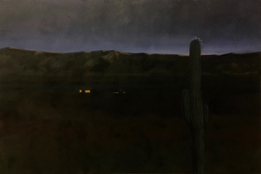Saguaro Blossom Night by Jane Domingos