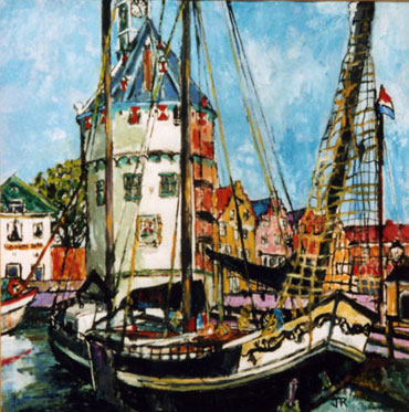 Hoorn Harbour by Joan Roobottom