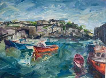 Boats by Mevagissey 2 by Joe Giampalma