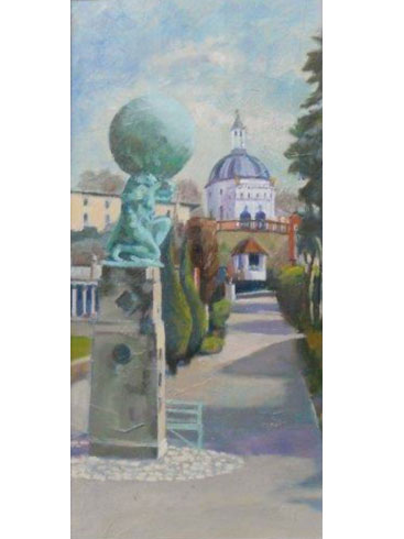 Walking in Portmeirion - triptych 2 by John Nixon