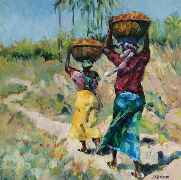 Tomato Pickers in the Gambia by Judy Merriman