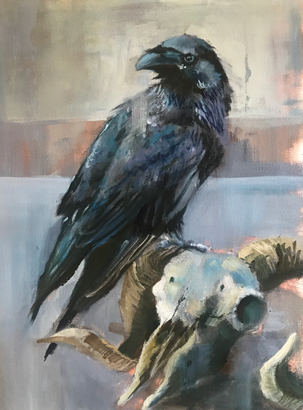 Raven and Sheep by Julie Manson