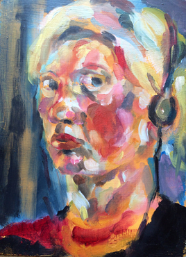 Girl with Headphones by Maria Collingham