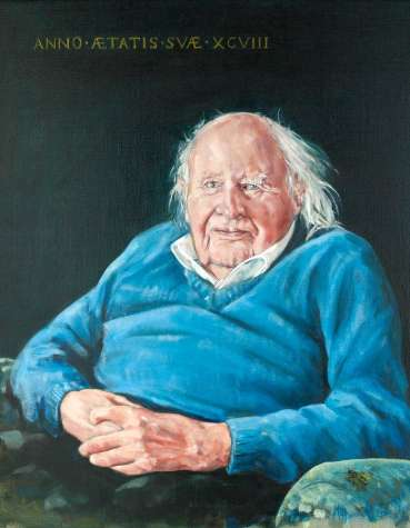 Portrait of Donald Russell at 98 by Mark Hancock