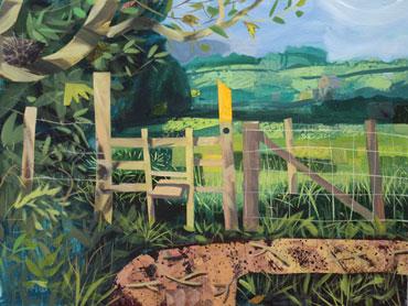 Stile near Tilton by Peter Clayton