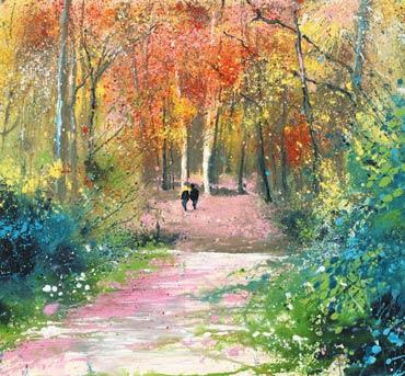 Autumn Walk, Barnsdale Wood by Philip Dawson