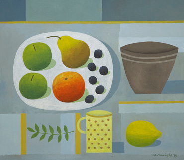 Grey Still Life with Fruit by Reg Cartwright