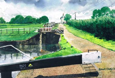 Foxton Locks by Robert Hewson