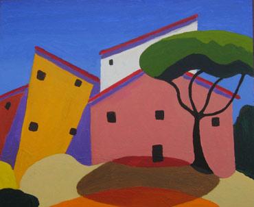Tuscan Farmhouse by Roger Whiteway