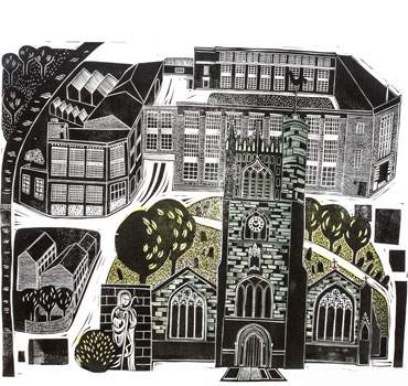 St Margarets and the Corah Works by Sarah Kirby