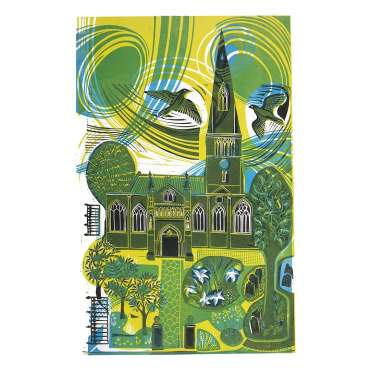 The Cathedral, the Gardens and the Peregrines by Sarah Kirby