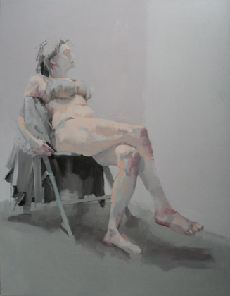 Reclining Nude with Greys by Scott Bridgwood