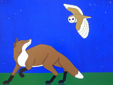 Fox and Owl by Stuart Hill