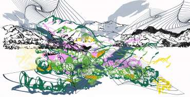 Remembered Landscapes 1 by Sue Clegg