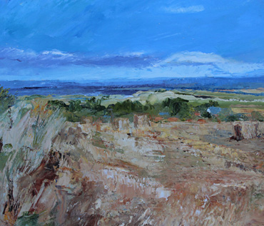 Over the Fields towards Brancaster Staithe by Sue Graham