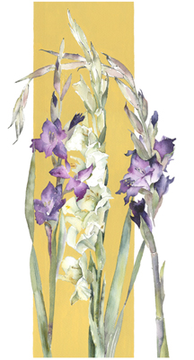 Three Gladioli by Vivienne Cawson