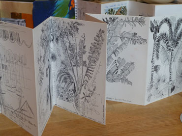 Jill Hailes concertina sketchbook