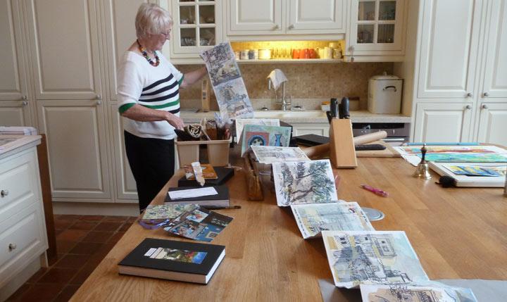 Jill Hailes opens up her concertina sketchbook
