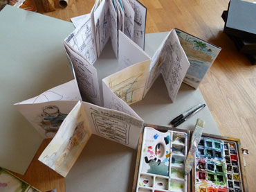 Jill Hailes sketchbook and toolkit
