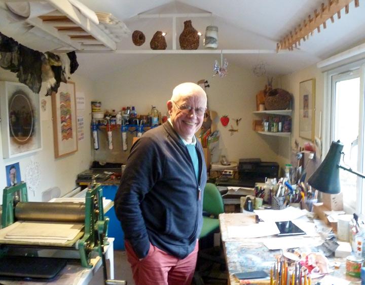 John Barradell in his studio