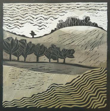 Linocut by John Barradell