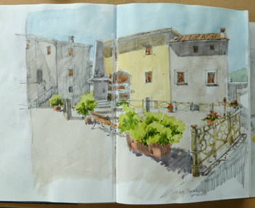 watercolour sketch by Mary Rodgers