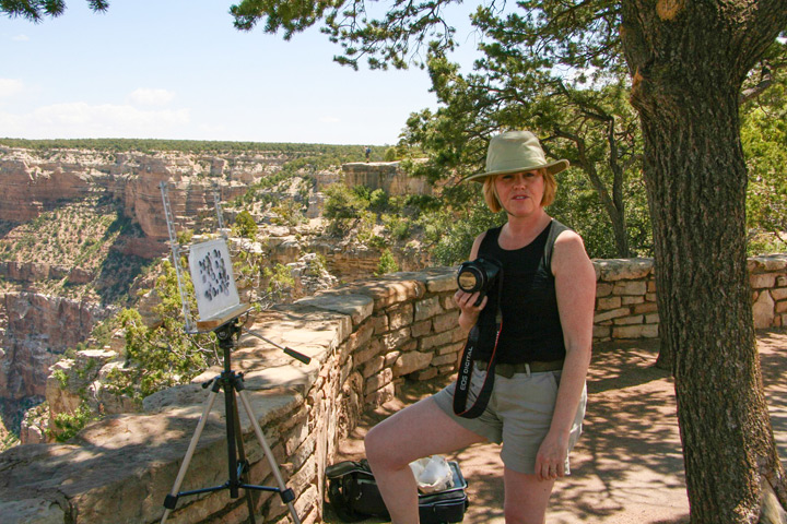Deborah Bird on location at Grand Canyon