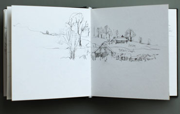 Sketchbook drawing by Deborah Bird