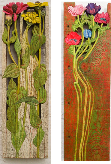 Carved & painted wood by Jenny Cook