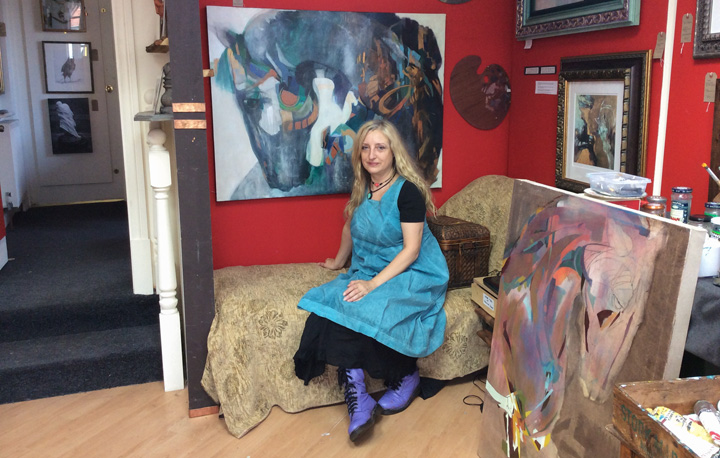 Louise Ellerington in her gallery
