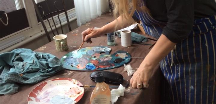 Louise Ellerington in her studio