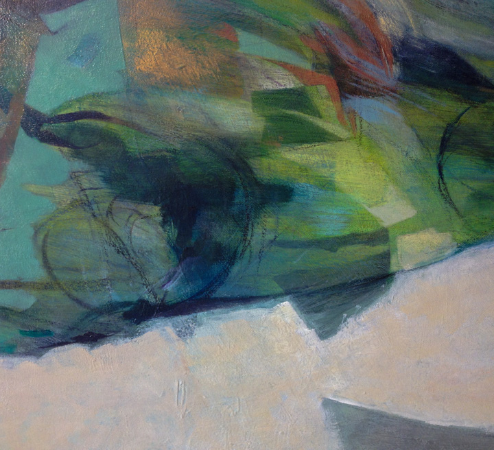 Detail of painting by Louise Ellerington