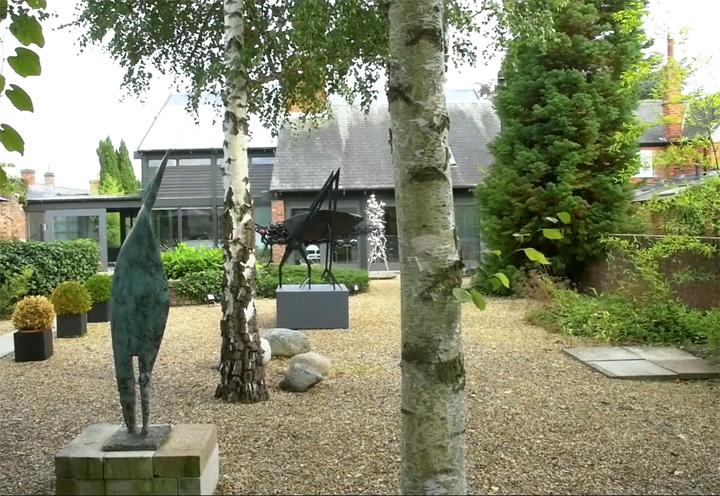Outside John Sydney Carter's studio
