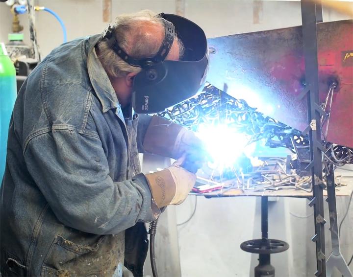 John Sydney Carter welding