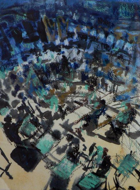 Maxine Dodd, orchestra, pastel