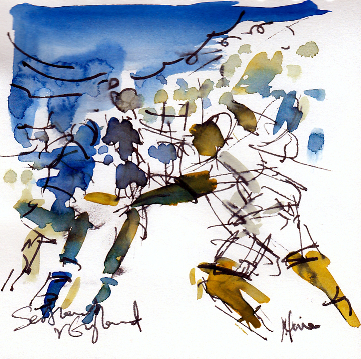 Maxine Dodd drawing - 6 nations rugby