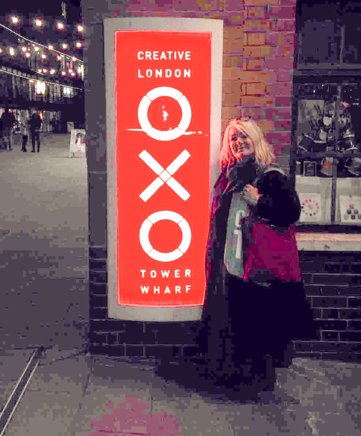Photograph of Linda Sharman at the Oxo Tower