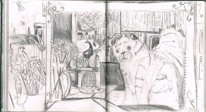 Jane Sunbeam - sketchbook page