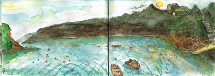 Sketchbook double spread by Jane Sunbeam