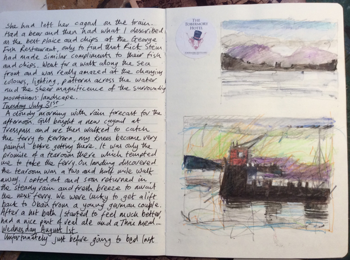 John Barradell, Scottish sketchbook 2018