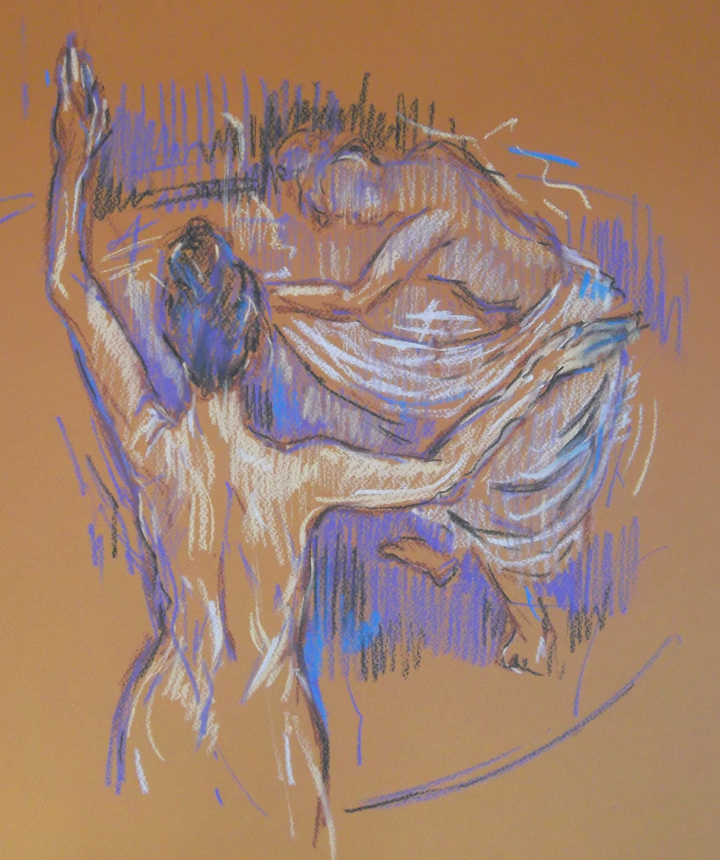 Pastel Drawing by Mark Hancock