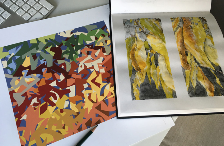 digital print and sketchbook by David Clarke