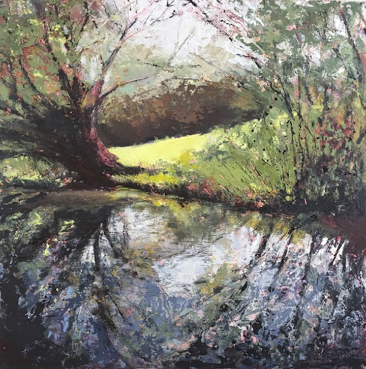 Painting by Lisa Timmerman 'On the Way to the Swingbridge'